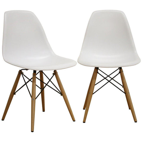 Baxton Studio Azzo Plastic Side 2 Dining Chairs-Dining Chairs-Baxton Studio-bedsville.com