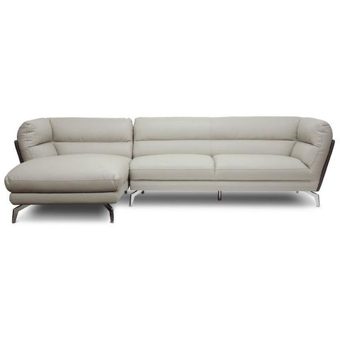 Baxton Studio Quall Gray Modern Sectional Sofa-Sofas-Baxton Studio-bedsville.com