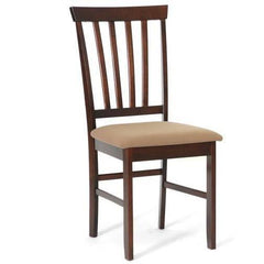 Baxton Studio Tiffany Brown Wood Modern 2 Dining Chairs