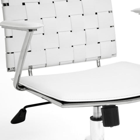 Baxton Studio Vittoria White Leather Modern Office Chair-Office Chairs-Baxton Studio-bedsville.com