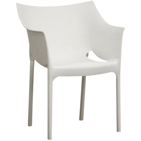 Baxton Studio White Molded Plastic 2 Dining Chairs-Dining Chairs-Baxton Studio-bedsville.com