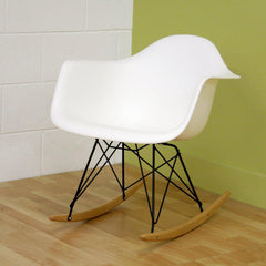 Baxton Studio White Plastic Rocking Chair