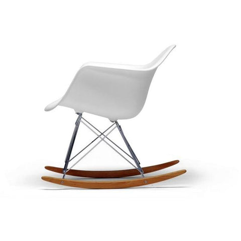 Baxton Studio White Plastic Rocking Chair-Accent Chairs-Baxton Studio-bedsville.com