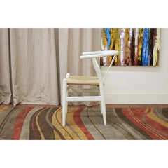 Baxton Studio Wishbone - 2 Ivory Wood Chairs