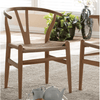 Image of Baxton Studio Wishbone Chair - Natural Wood Y DC-541 Chair-Accent Chairs-Baxton Studio-bedsville.com