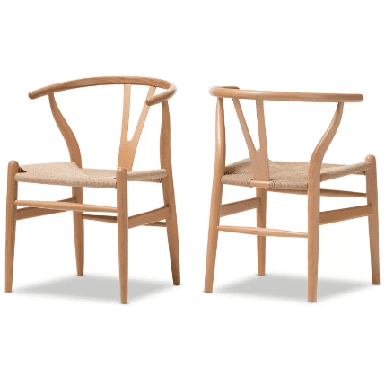 Baxton Studio Wishbone Chair - Natural Wood Y DC-541 Chair-Accent Chairs-Baxton Studio-bedsville.com