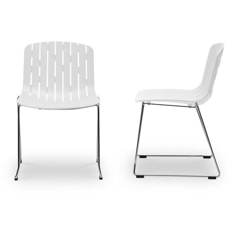 Baxton Studio Ximena Orange Plastic Modern 2 Dining Chairs-Dining Chairs-Baxton Studio-bedsville.com