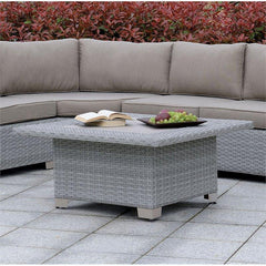 Furniture Of America Catalo Patio Wicker IDF-OS1840BR-SQ Coffee Table-Patio Coffee Tables-Furniture Of America-Gray-bedsville.com