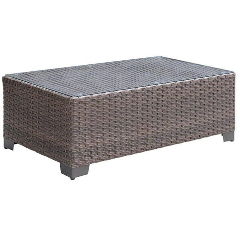 Furniture Of America Condor IDF-OS1842BR-C Patio Coffee Table-Patio Coffee Tables-Furniture Of America-Brown-bedsville.com