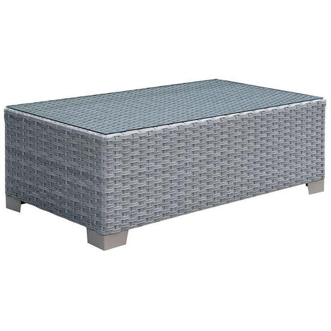 Furniture Of America Condor IDF-OS1842BR-C Patio Coffee Table-Patio Coffee Tables-Furniture Of America-Gray-bedsville.com