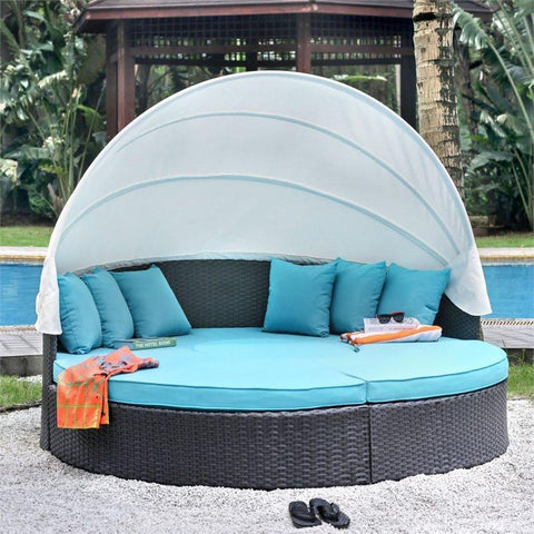 Furniture Of America Fairentell IDF-OS2117 Patio Daybed-Patio Daybeds-Furniture Of America-bedsville.com