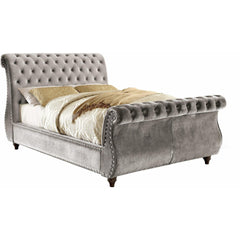 Furniture Of America Shirley IDF-7128GY Sleigh Bed In Gray