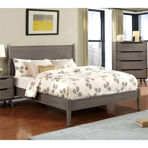 Furniture Of America Silvan IDF-7386GY Panel Bed In Gray-Panel Beds-Furniture Of America-California King-bedsville.com
