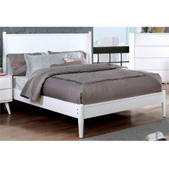 Furniture Of America Silvan IDF-7386WH Panel Bed In White-Panel Beds-Furniture Of America-California King-bedsville.com