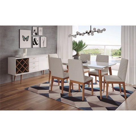 "Manhattan Comfort 7-piece Utopia 70.86"" and Catherine Dining Set-Dining Table Sets-Manhattan Comfort-bedsville.com"