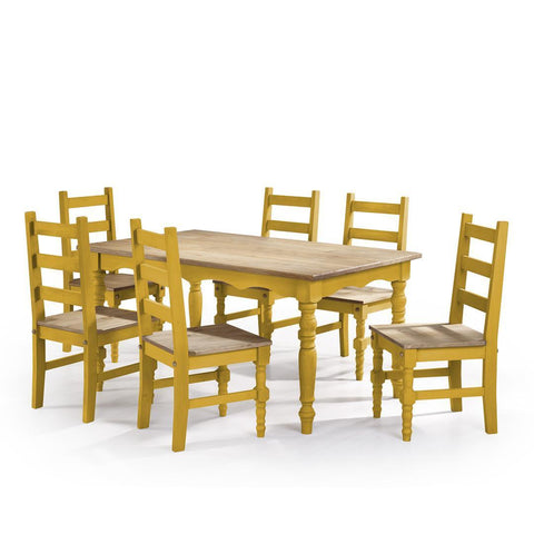 Manhattan Comfort Jay Dining Set 3.0-Dining Table Sets-Manhattan Comfort-YELLOW WASH-bedsville.com