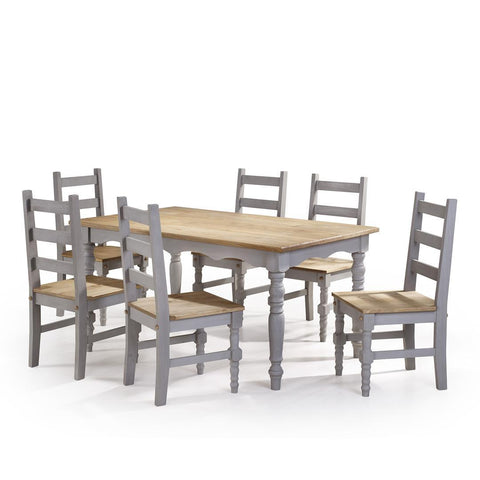 Manhattan Comfort Jay Dining Set 3.0-Dining Table Sets-Manhattan Comfort-GRAY WASH-bedsville.com