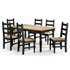 Image of Manhattan Comfort Jay Dining Set 3.0-Dining Table Sets-Manhattan Comfort-BLACK WASH-bedsville.com