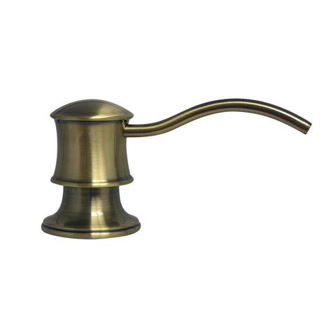 Whitehaus Accessories WHSD45N-AB Solid Brass Soap/Lotion Dispenser-Shower Accessories-Whitehaus-bedsville.com