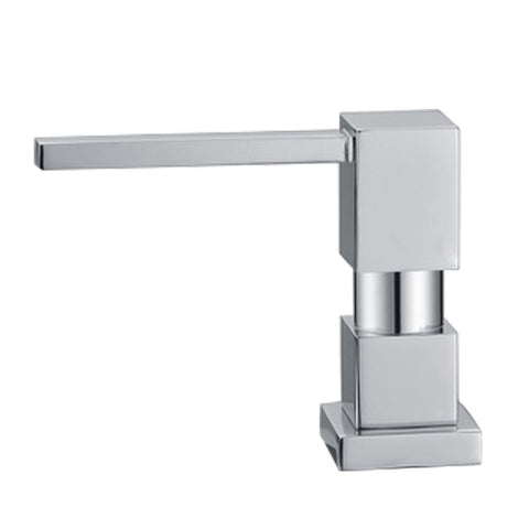 Whitehaus Accessories WHSQ-SD003-BN Q-Haus Soap/Lotion Dispenser-Kitchen Accessories-Whitehaus-bedsville.com