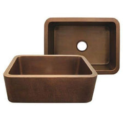 Whitehaus Copperhaus WH2519COFC-OBS Undermount Sink with Front Apron