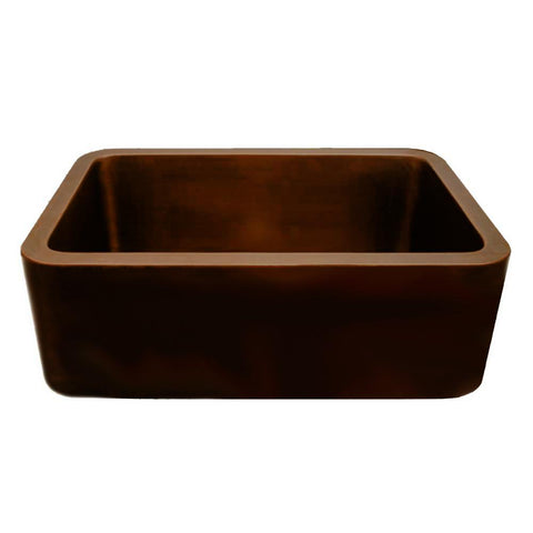Whitehaus Copperhaus WH2519COFC-OBS Undermount Sink with Front Apron-Copper Sinks-Whitehaus-bedsville.com
