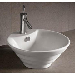 Whitehaus Isabella Collection WHKN1054 Round Stepped Above Mount Basin-Above Mount Sinks-Whitehaus-bedsville.com