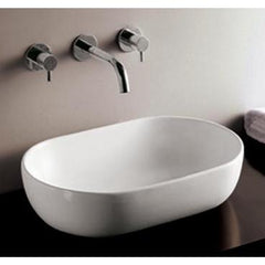 Whitehaus Isabella Collection WHKN1080 Oval Above Mount Basin-Above Mount Sinks-Whitehaus-bedsville.com
