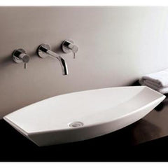 Whitehaus Isabella Collection WHKN1086 Oval Above Mount Basin-Above Mount Sinks-Whitehaus-bedsville.com