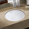 Image of Whitehaus Isabella Plus WHU71001 Oval Undermount Basin Sink-Undermount Bathroom Sinks-Whitehaus-bedsville.com