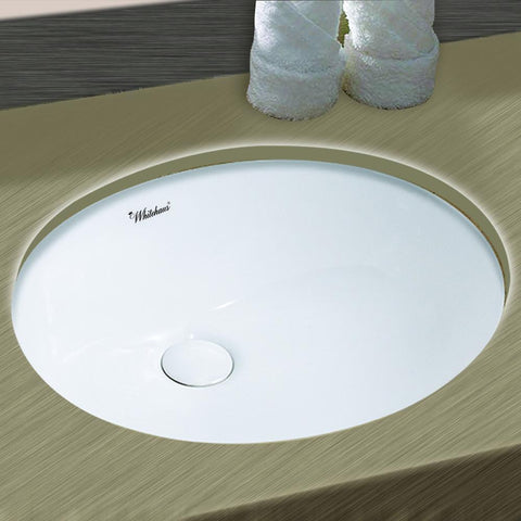 Whitehaus Isabella Plus WHU71003 Oval Undermount Basin Sink-Undermount Bathroom Sinks-Whitehaus-bedsville.com