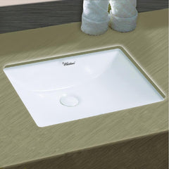 Whitehaus Isabella Plus WHU71006 Wide Rectangular Undermount Sink