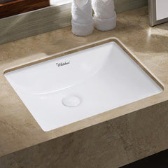 Whitehaus Isabella Plus WHU71006 Wide Rectangular Undermount Sink-Undermount Bathroom Sinks-Whitehaus-bedsville.com