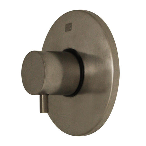 Whitehaus Luxe WHUS40078-BN Round Volume Control with Lever Handle-Shower Accessories-Whitehaus-bedsville.com