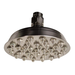 Whitehaus Showerhaus WHSM01-6-BN Small Sunflower Rainfall Showerhead-Showerheads-Whitehaus-bedsville.com