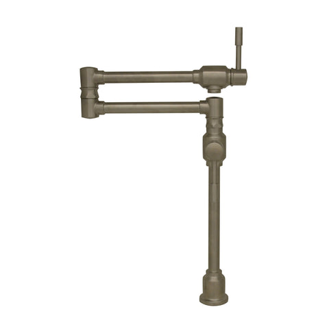 Whitehaus Waterhaus Lead Free Deck Mount Pot Filler-Kitchen Pot Fillers-Whitehaus-bedsville.com