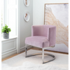 Image of Zuo Modern Artist Pink Velvet 101169 Occasional Chair-Accent Chairs-Zuo Modern-bedsville.com