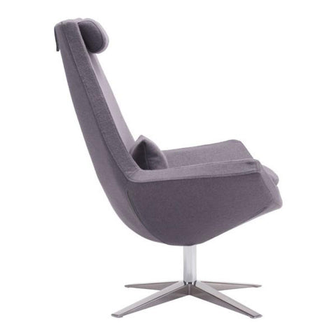 Zuo Modern Bruges Gray Charcoal 500510 Occasional Chair-Accent Chairs-Zuo Modern-bedsville.com