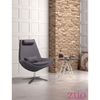 Image of Zuo Modern Bruges Gray Charcoal 500510 Occasional Chair-Accent Chairs-Zuo Modern-bedsville.com