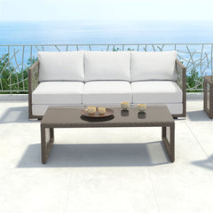 Zuo Modern Coronado Cocoa 703825 Coffee Table-Patio Coffee Tables-Zuo Modern-bedsville.com