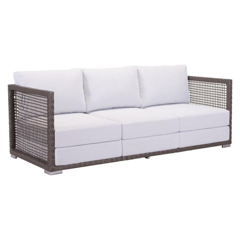 Zuo Modern Coronado Cocoa and Light Gray 703823 Sofa-Sofas-Zuo Modern-bedsville.com