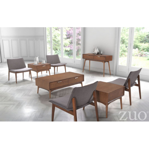 Zuo Modern Design District Walnut 100091 Coffee Table-Patio Coffee Tables-Zuo Modern-bedsville.com