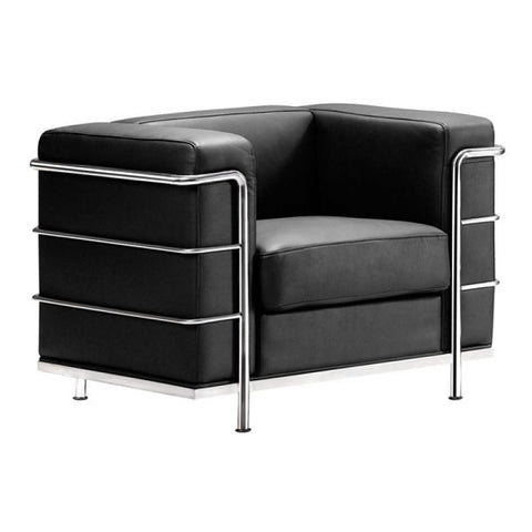 Zuo Modern Fortress Black 900220 Arm Chair-Arm Chairs-Zuo Modern-bedsville.com