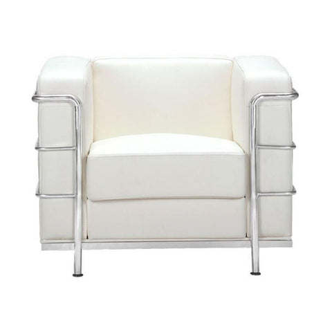 Zuo Modern Fortress White 900221 Arm Chair-Arm Chairs-Zuo Modern-bedsville.com