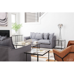 Zuo Modern Livingston Charcoal Gray 101015 Sofa