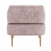 Image of Zuo Modern Oasis Pink Velvet 101138 Arm Chair-Arm Chairs-Zuo Modern-bedsville.com
