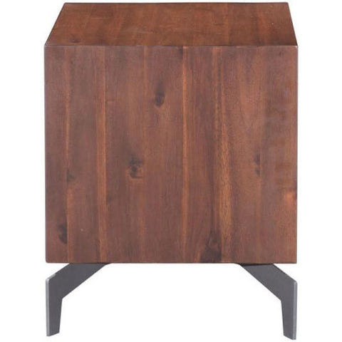 Zuo Modern Perth Chestnut End Table - 100585 End Table-End Tables-Zuo Modern-bedsville.com