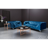 Image of Zuo Modern Providence Blue Velvet 900279 Arm Chair-Arm Chairs-Zuo Modern-bedsville.com