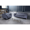 Image of Zuo Modern Providence Gray Velvet 900281 Arm Chair-Arm Chairs-Zuo Modern-bedsville.com