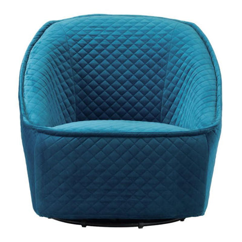Zuo Modern Pug Aquamarine 100251 Swivel Chair-Accent Chairs-Zuo Modern-bedsville.com